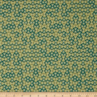 Kaufman Imperial Collection Metallic Floral Grid Spring