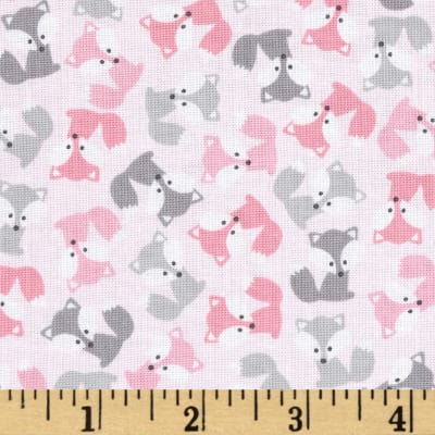 Kaufman Urban Zoologie Mini Foxes Pink