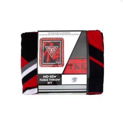 No Sew Fleece Kit Tau Kappa Epsilon Red/Black/White