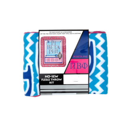 No Sew Fleece Kit Pi Beta Phi Blue/White/Pink