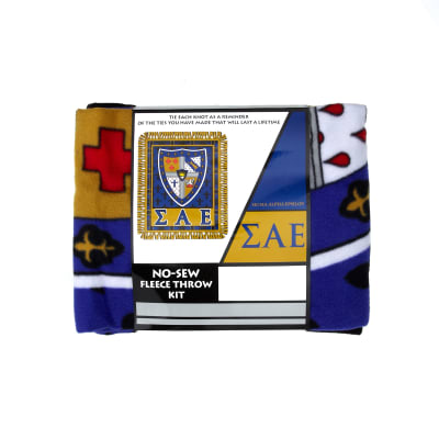 No Sew Fleece Kit Sigma Alpha Epsilon Blue/Red/Yellow