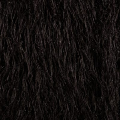 Faux Fur Lofty Mongolian Fur Black