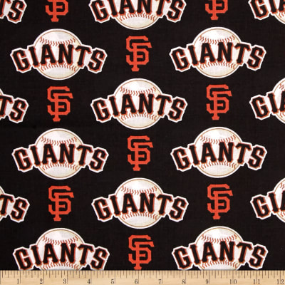 MLB Cotton Broadcloth San Francisco Giants Orange