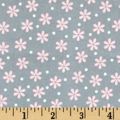 Kaufman Cozy Cotton Flannel Daisy Grey