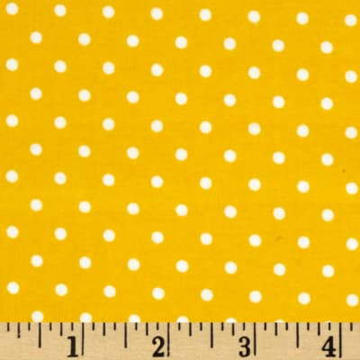 Kaufman Cozy Cotton Flannel Small Dot Yellow