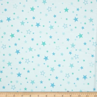Kaufman Cozy Cotton Flannel Stars Marine