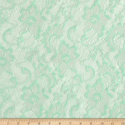 Shimmer Stretch Lace Floral Mint