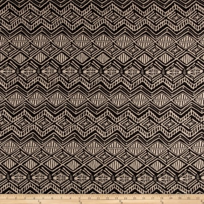 Rayon Challis Abstract Black/Stone