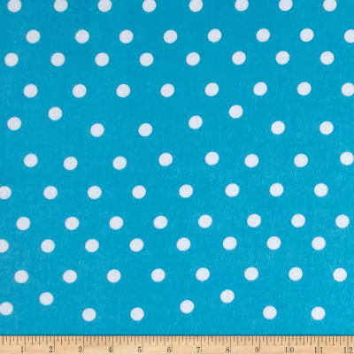 Flannel Dot Turquoise/White