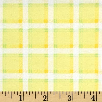 Kanvas Bunny Hop Flannel Soft Plaid Lemon