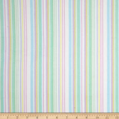Kanvas Bunny Hop Flannel Soft Stripe White/Pastel