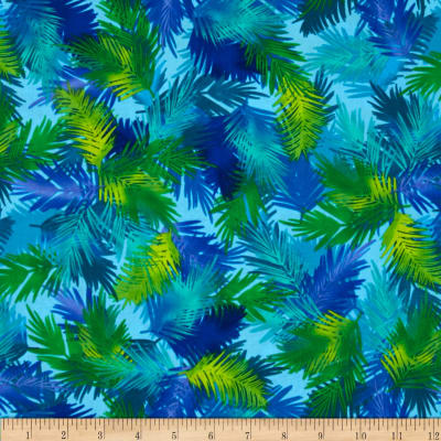 Kanvas Endless Summer Island Palm Aqua