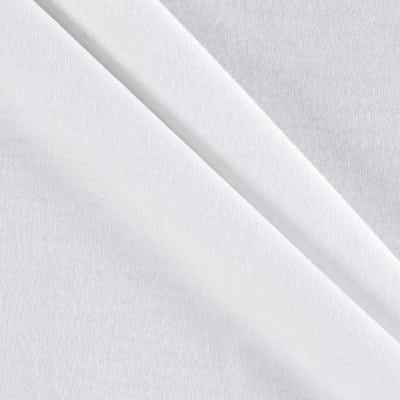 Rayon Lycra Spandex Knit Solid White