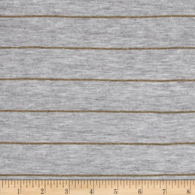 Designer Yarn Dyed Jersey Knit Gold Glitter/Grey