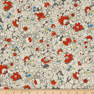 Kaufman London Calling Lawn Tight Floral Vintage