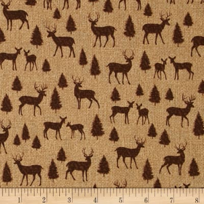 Adirondack Crossing Deer Silhouette Honey/Brown