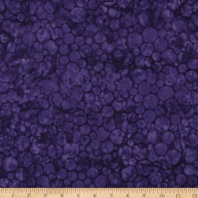 Island Batik Strawberry Fields Circles Purple