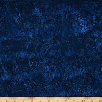 Island Batik Raindrops Keep Falling on My Head Leaves Dk.Blue