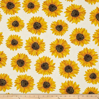 Kanvas Forever Sunflowers Metallic Spaced Sunflower Cream
