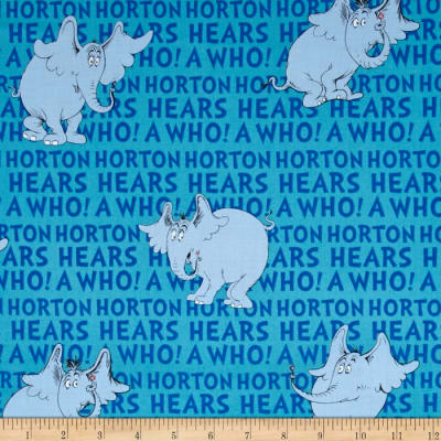 Dr. Seuss Horton Hears A Who Horton Words Blue