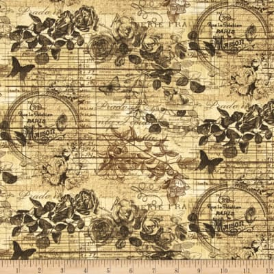 Rue 36 Linen Floral Honey
