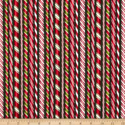 Kaufman Holly Jolly Christmas Candy Canes Evergreen