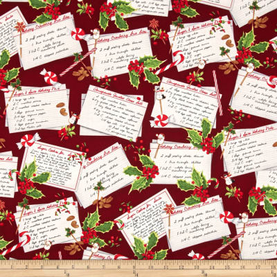 Kaufman Holly Jolly Christmas Recipe Cards Holiday