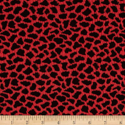 Harmony Jacquard Cheetah Knit Red/Black