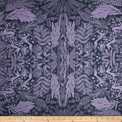 Amy Butler Bright Heart Voile Oh Deer Purple