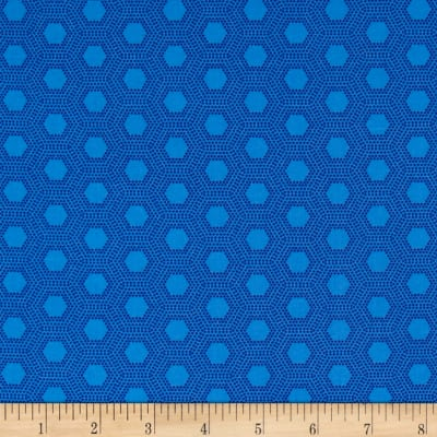 Jungle Things Hexies Blue