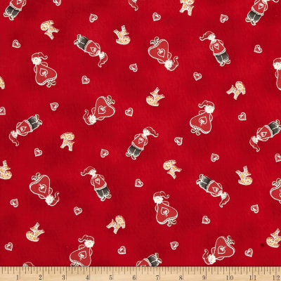 Lecien Yuletime Cozy Christmas Nisse Kids Red