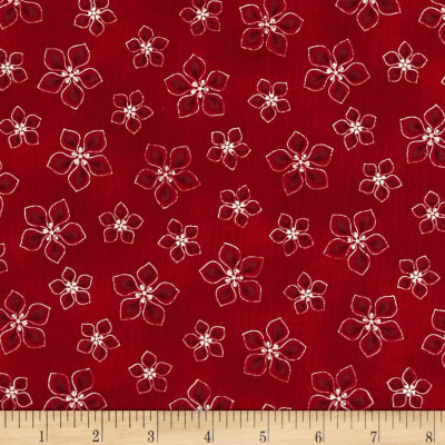 Lecien Yuletime Cozy Christmas Poinsettia Red