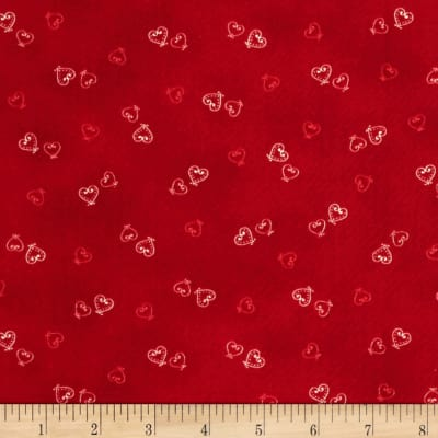 Lecien Yuletime Cozy Christmas Hearts Red