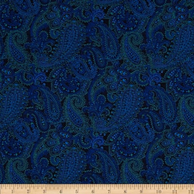 Something Blue Linear Paisley Blue