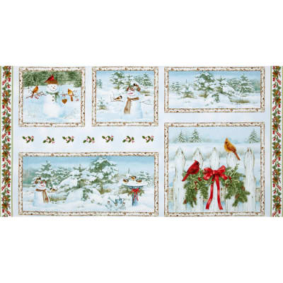 A Winter Song Block Panel Light Blue