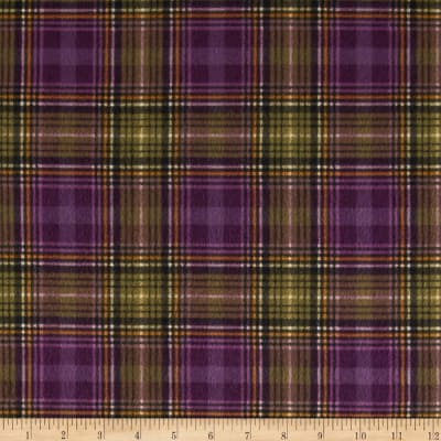 Kensington Flannel Plaid Plum