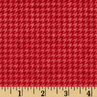 Build Each Other Up Houndstooth Red