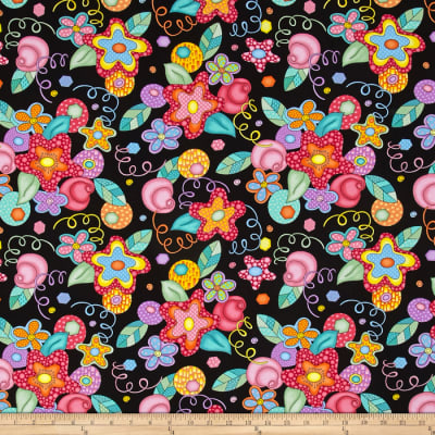 Modern Love Large Floral Black/Multi