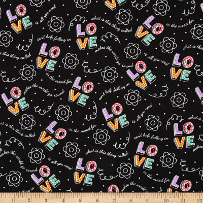 Modern Love Love A/O Toss Black/Multi