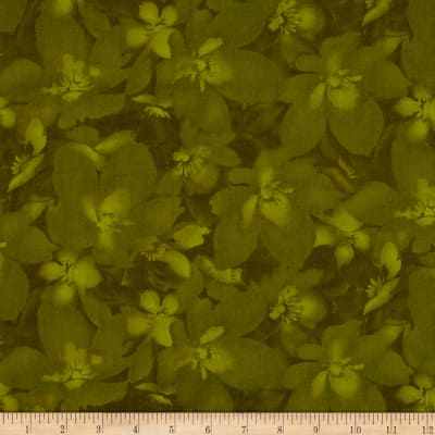 Catalina Tonal Floral Dark Green