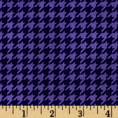 Mind Your Mummy Houndstooth Purple