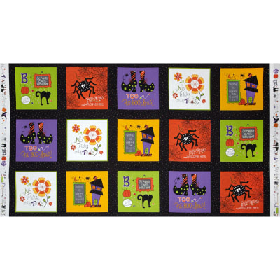"Mind Your Mummy Craft Squares 23"" Panel Multi"