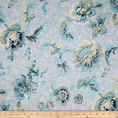 Mary May Metallic Tapestry Floral Dove/Silver