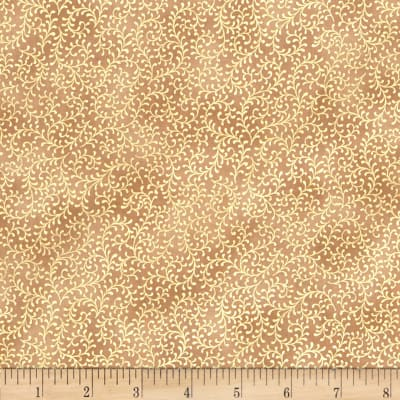 Royal Peacock Metallic Filigree Vine Tan/Gold