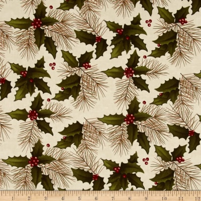 Moda Winter's Song Holly Pine Ivory