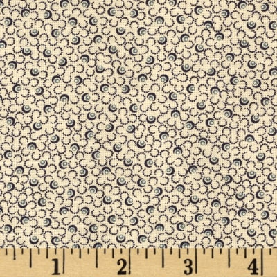 Moda Snowman Gatherings II Snow Storm Tallow/Navy