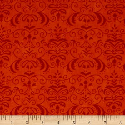 Moda Forest Fancy Autumn Damask Harvest Orange