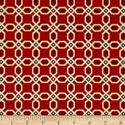 Moda Chandelier Metallic Tiles Crimson