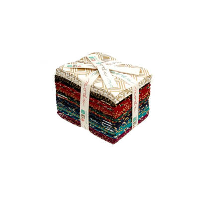 Moda Chandelier Metallic Fat Quarters Multi
