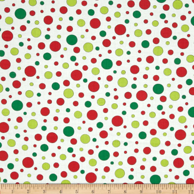 Moda Ho! Ho! Ho! Jolly Polk Dots Snow White